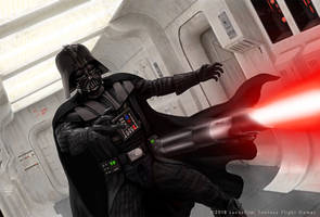 Vader Saber Throw by R-Valle