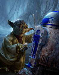 Yoda and R2 by R-Valle