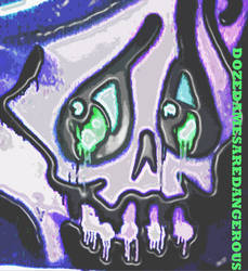 drip skull print 2