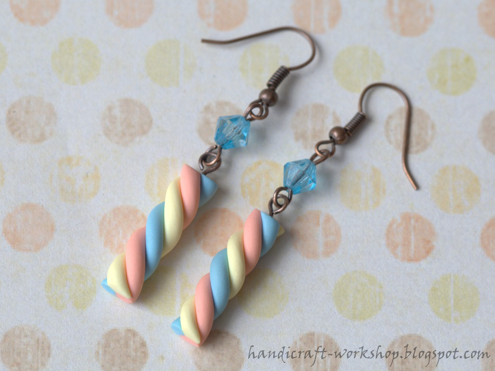 Marshmallow earrings by ~Panna-Kot