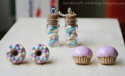 Pastel miniature sweets by Panna-Kot