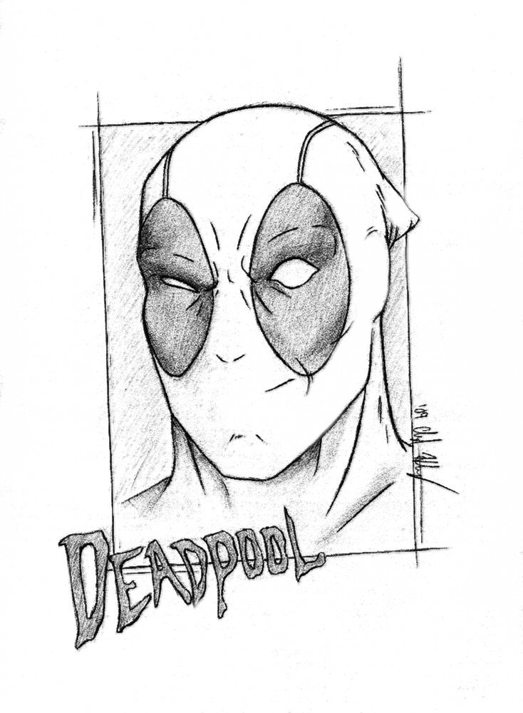 The Gallery For --u0026gt; Easy Deadpool Drawings