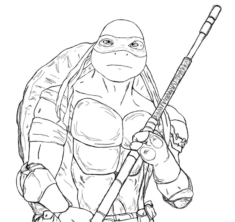 Tmnt Donnie Coloring Pages OnDonniePrintable Coloring Pages Free