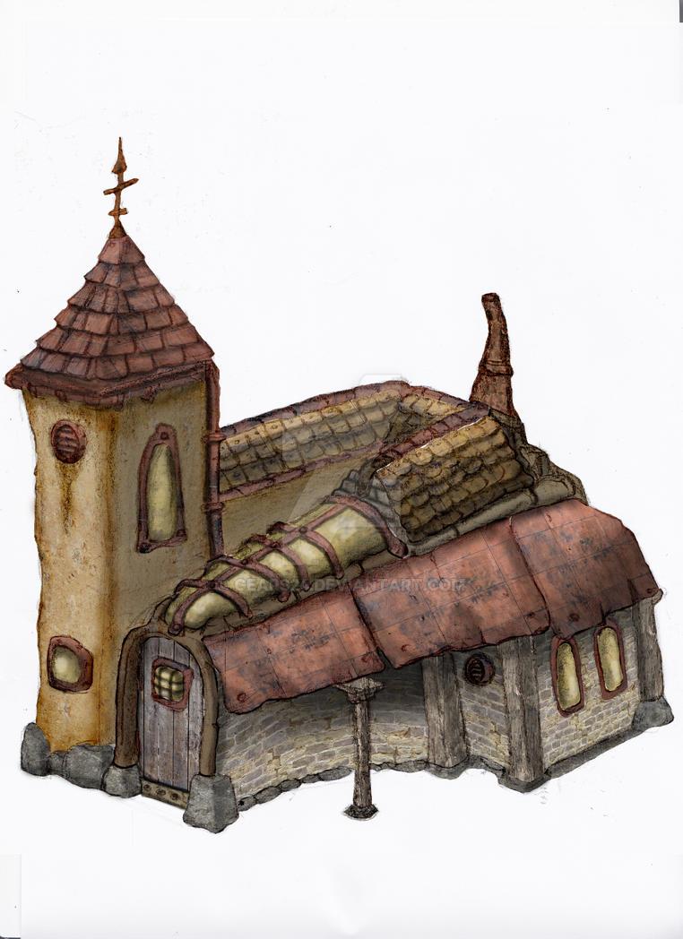 My Machinarium Chapel by Gears24