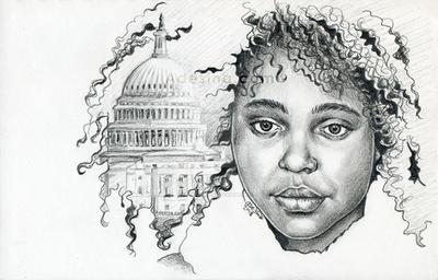 Drawing-naomi-wadler-adesina by ArtByAdesina