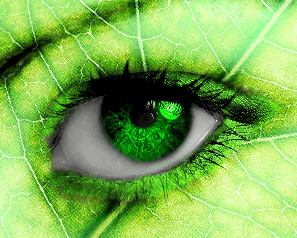 Leafy Eye by reinedescoeurs