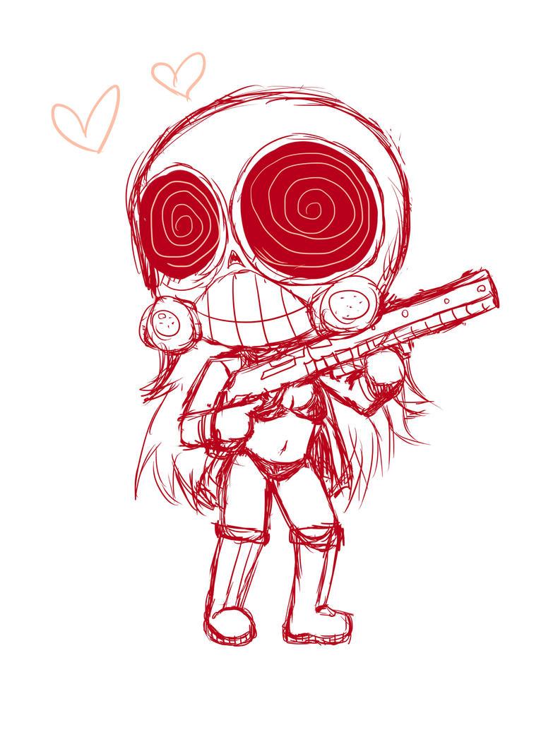 Gas mask girl chibi by taskimosaki