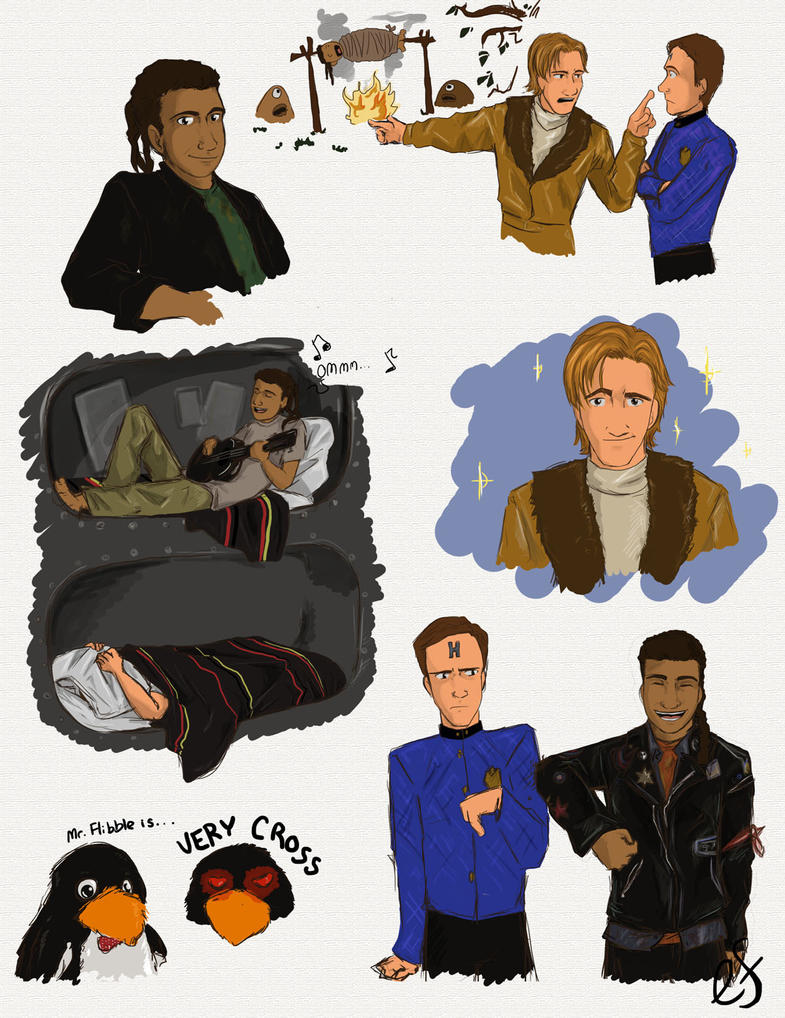 Red Dwarf Sketches by Shanks-kun