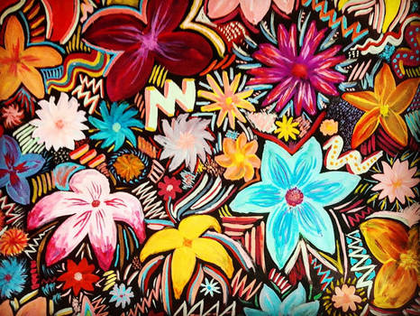 Acid Flower Pattern