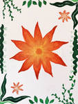 Boho Flower and Leaves Pattern