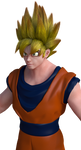 3D Anime : Dragonball Z Super Saiyan Goku Pic 1 by Ji-Nero-Kendrick