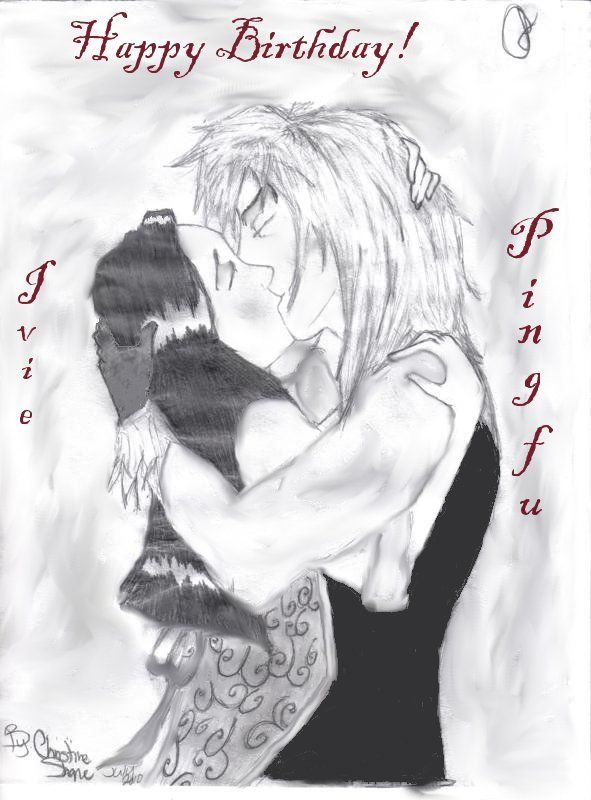 Jareth - Sarah .:B-day Kiss:. by Figarro-Luv