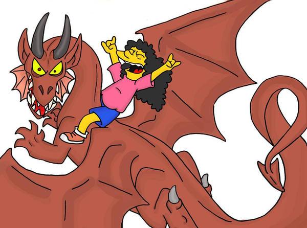 Otto rides a dragon by Kaaziel