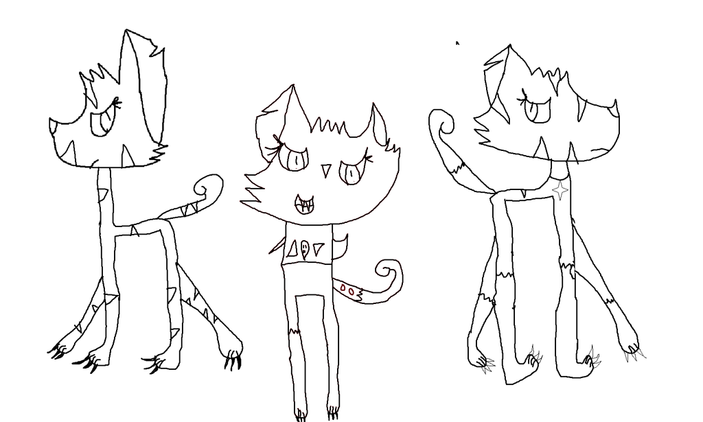 Warrior Cats in Love Lineart Female Warrior Cats Lineart by