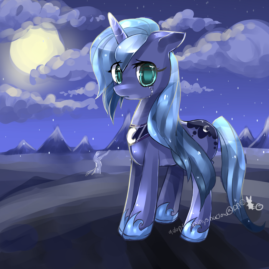 Luna the abandoned princess by AquaGalaxy