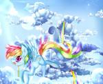 Cloudsdale's best flier Rainbow dash!