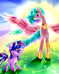 (MLP) My Sun Twilight and Celestia (MLP)