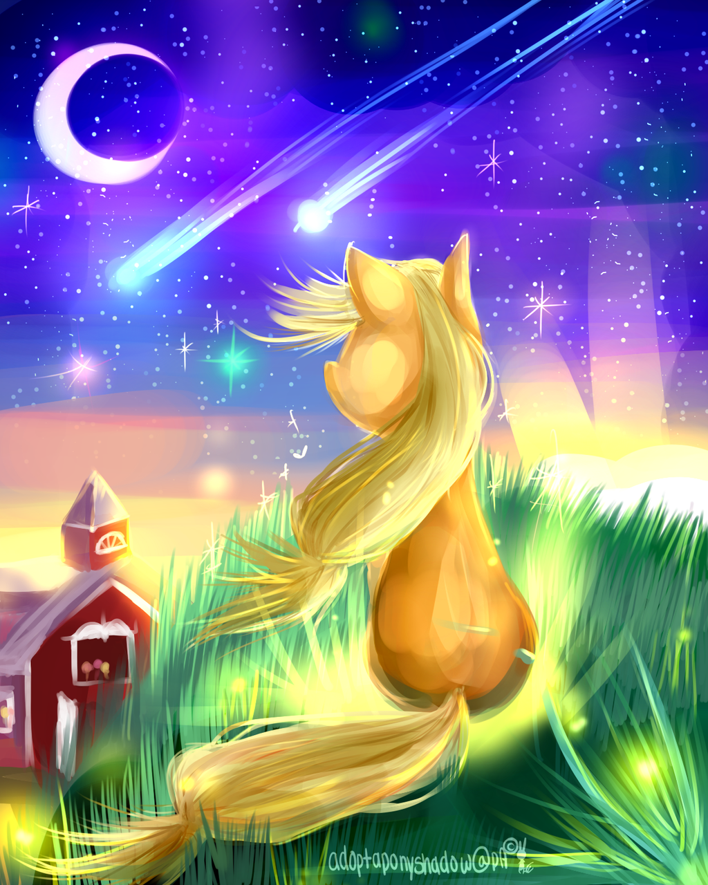 MLP applejack : memories that have faded by AquaGalaxy