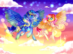 Casual Flight : MLP fluttershy and Luna collab