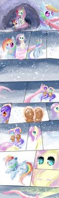 The scarf MLp comic by AquaGalaxy