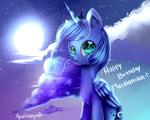 Happy birthday macalaniaa! Luna