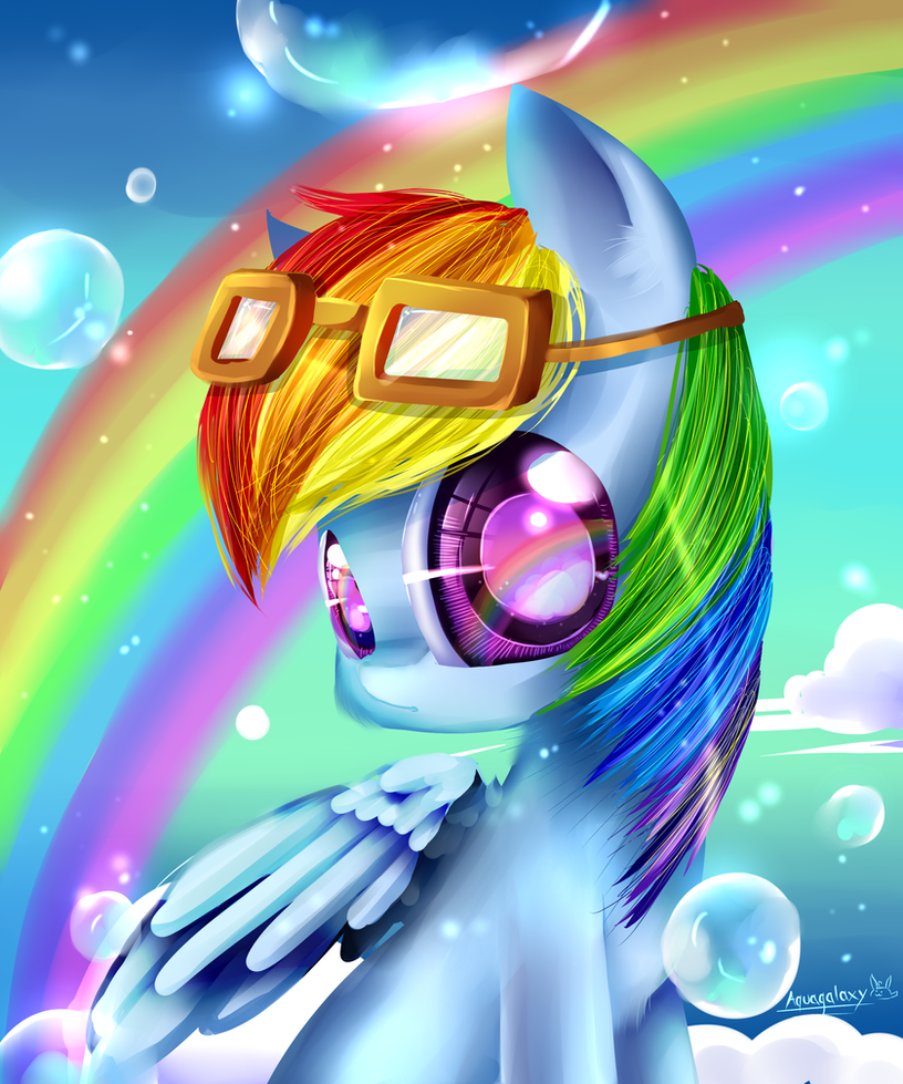 Rainbow Dash (MLP) by AquaGalaxy