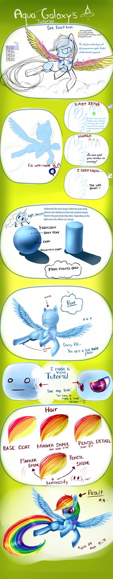 MLP pony tutorial by AquaGalaxy