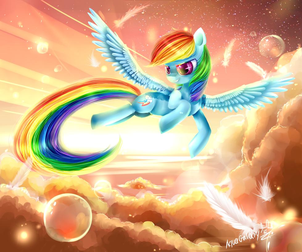 Rainbow dash (MLP) by AquaGalaxy