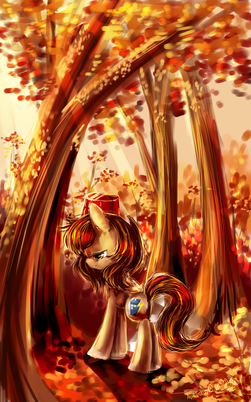 Pony Autumn bloom by AquaGalaxy
