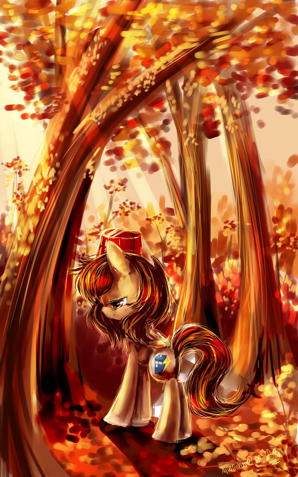 Pony Autumn bloom by AquaGalaxy