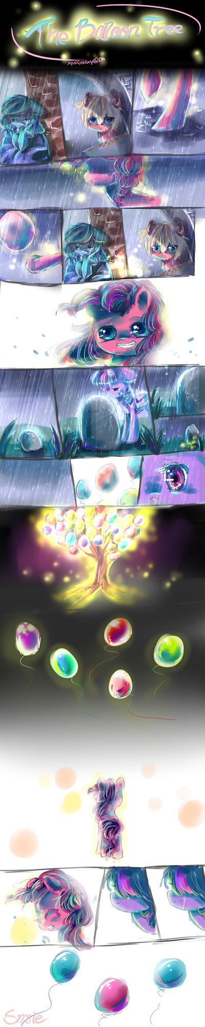 MLP comic The Balloon tree by AquaGalaxy