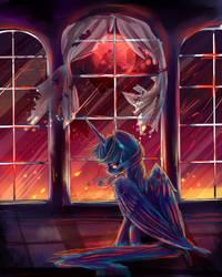 MLP luna : Destruction by AquaGalaxy