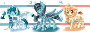 pony adoptables CLOSED by AquaGalaxy