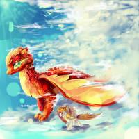 MLP dragons! by AquaGalaxy