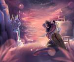 Canterlot sunset MLP