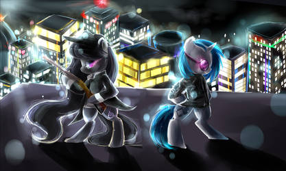 Mafia Octavia and Vinyl by AquaGalaxy