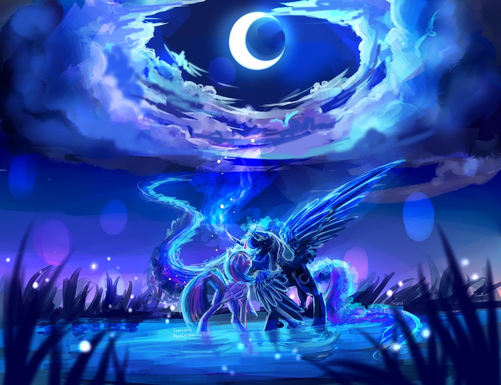 MLP C : under the moonlight by AquaGalaxy