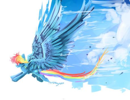 MLP : Paint the skies + speedpaint by AquaGalaxy