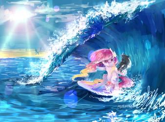 MLP AT: Surf dem waves by AquaGalaxy