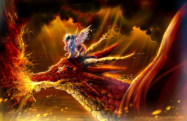 MLP fluttershy : dragon master by AquaGalaxy