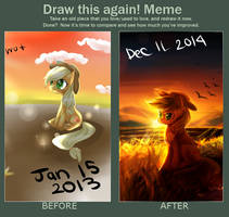 draw this again MLP AJ by AquaGalaxy