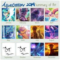 2014 art summary by AquaGalaxy