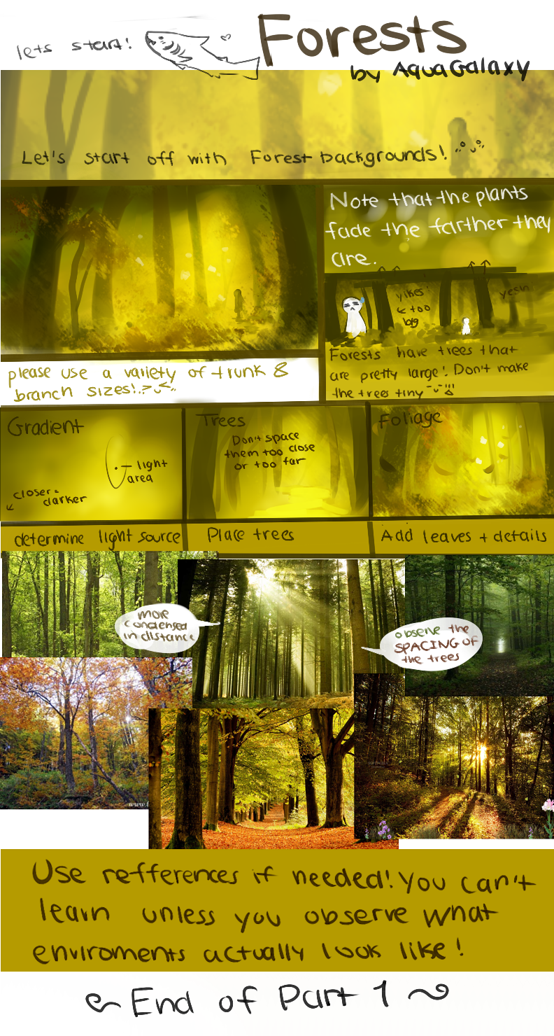 Forests Tutorial by AquaGalaxy