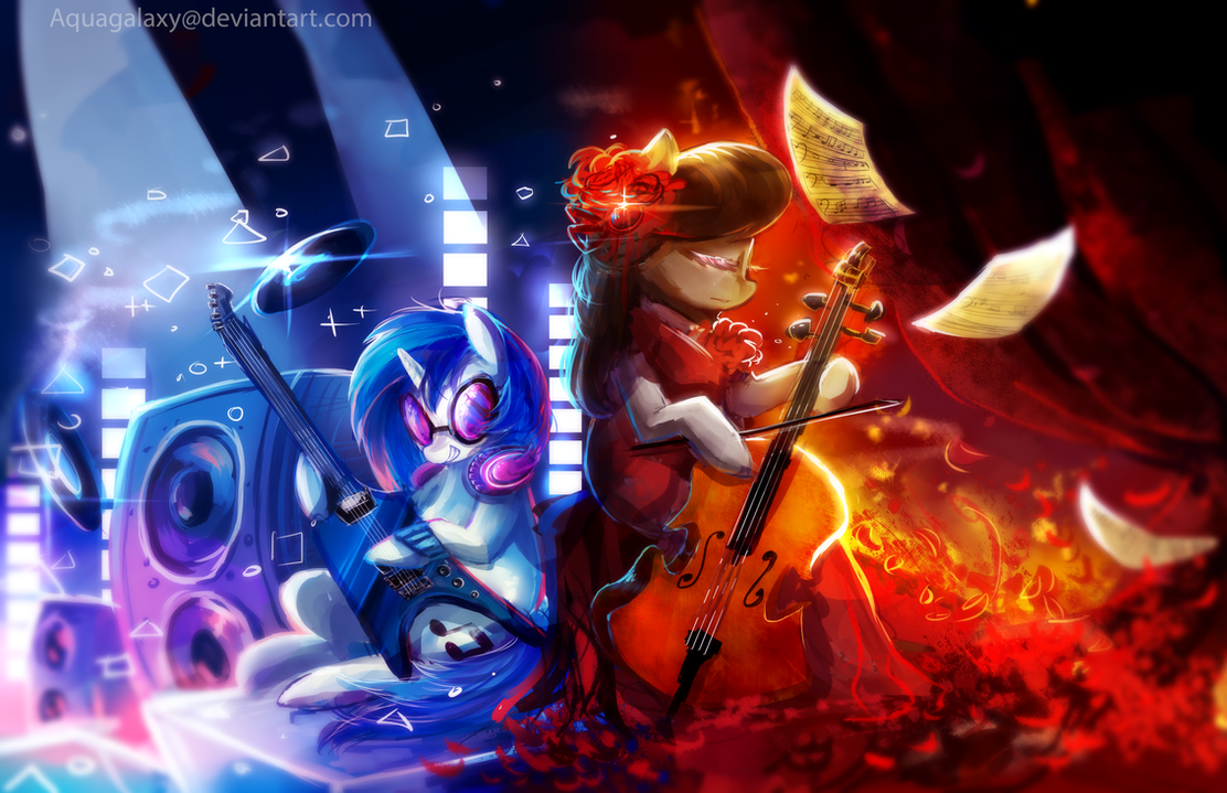 mlp__octavia_and_vinyl_by_aquagalaxy-d8l
