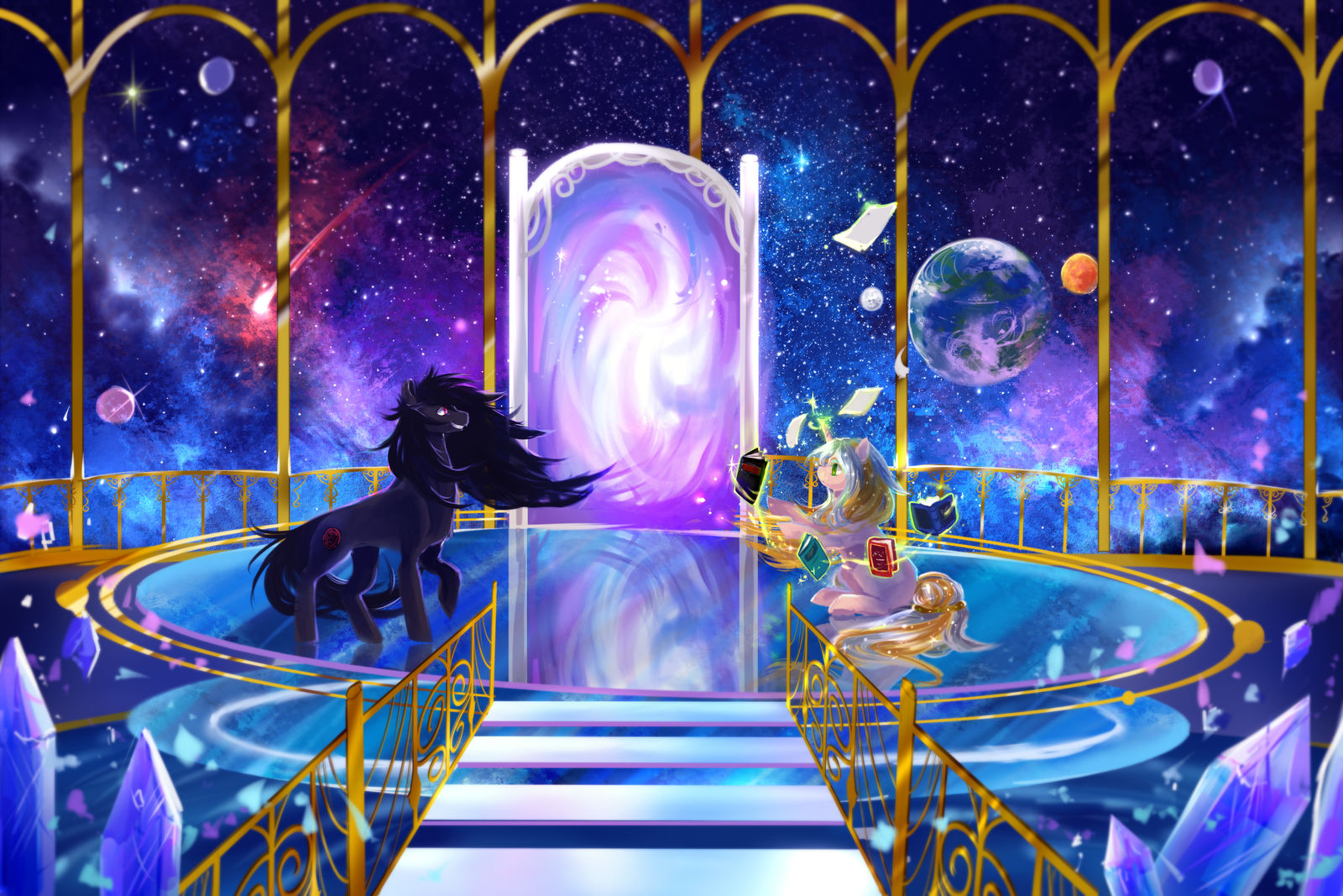 MLP C: Another realm by AquaGalaxy