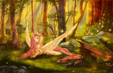 Fluttershy by AquaGalaxy