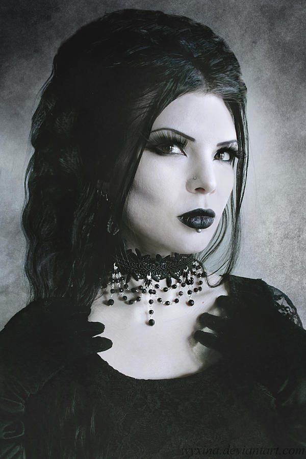 Lace beaded choker by Wyxina