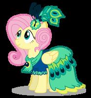 Fluttershy Gala Dress by DragonChaser123