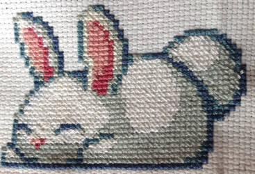Bunny Cross Stitch by DragonChaser123