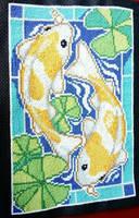 Koi Cross Stitch by DragonChaser123